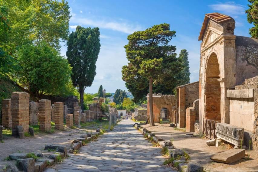 Pompeii city ruins