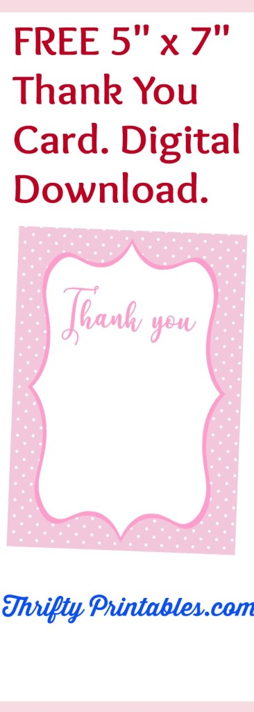 Thank You Card Archives Thrifty Printables