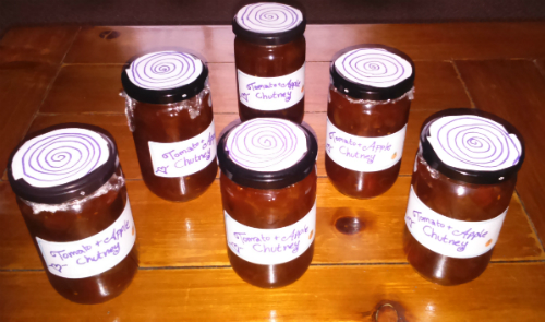 christmas chutney yummy tomato apple diy home made gift gifts thrifty sustainability making relish