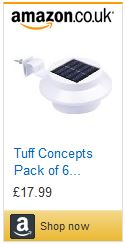 Solar power garden lights pack of six solar panel lights