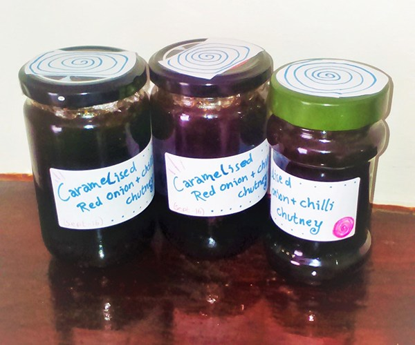 chutney recipe jars of caramelised red onion and chilli chutney homemade gift idea