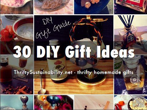 DIY gift ideas homemade handmade presents inspriatoin thrifty save money