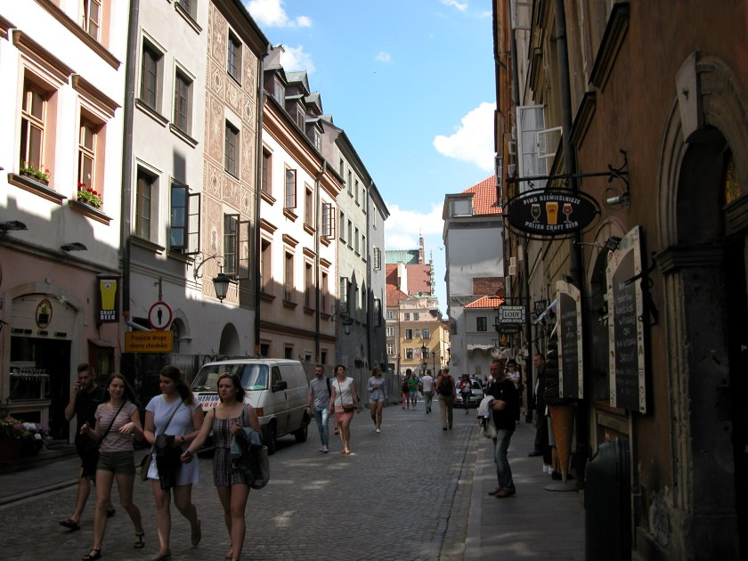Warsaw old town streets