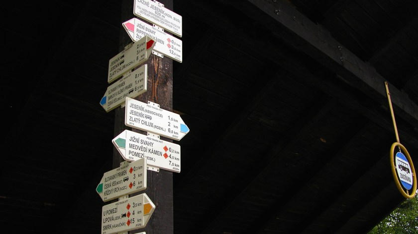 Jesenik Bus Stop Signs