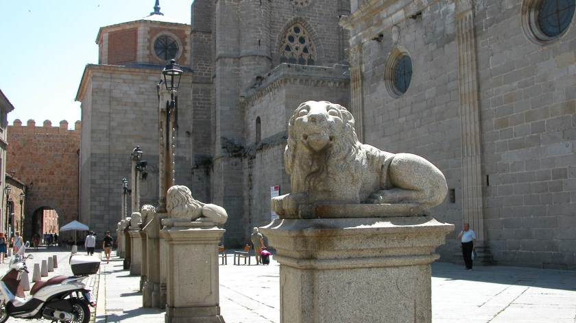 Stone Lions Outside Cathedral