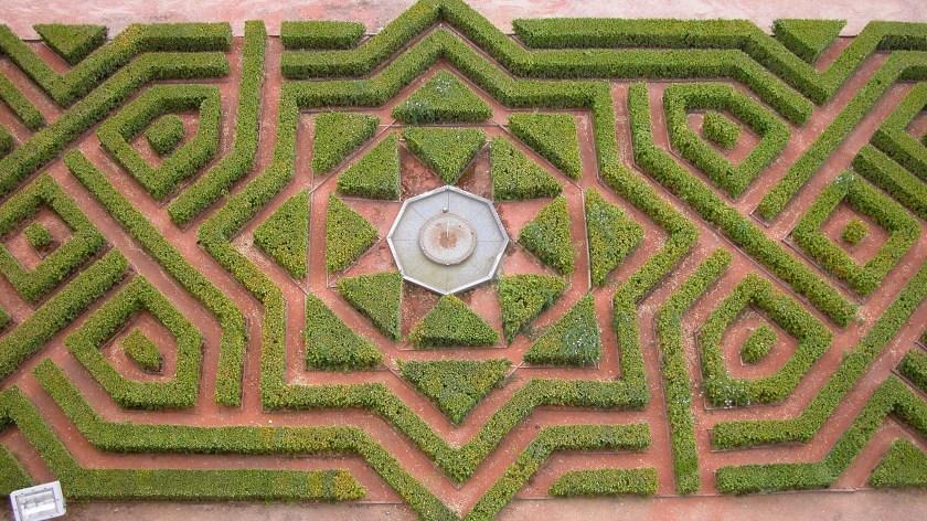Garden at the Alcazar of Segovia