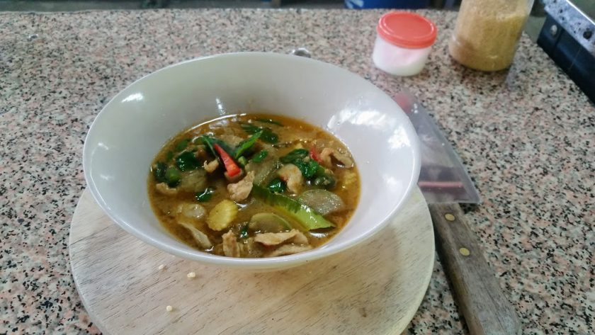 Red curry made from scratch