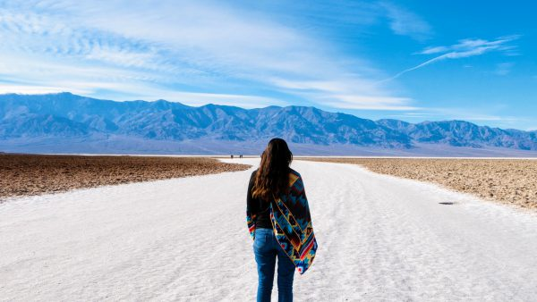 Walking through Death Valley