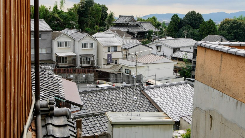 Japanese tile roofs