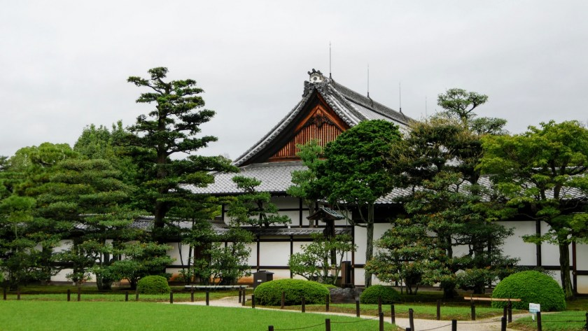 Nijo Castle is surrounded by a beautiful garden