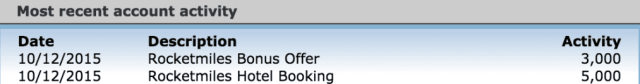 I earned 8k United miles for a recent RocketMiles stay!