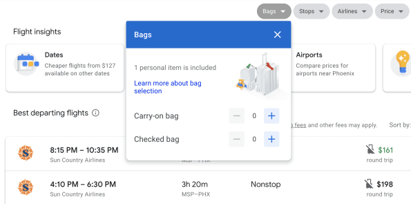 google flights tool