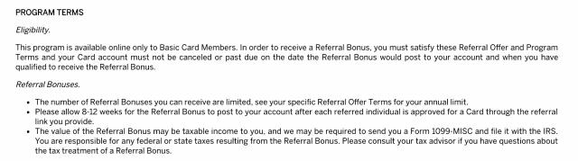Amex Refer a Friend Tax