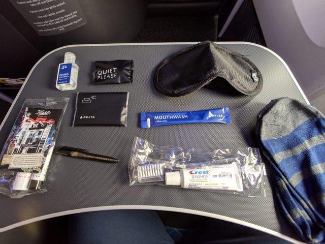 Delta ONe suites amenity kit