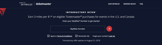 Delta SkyMiles Ticketmaster