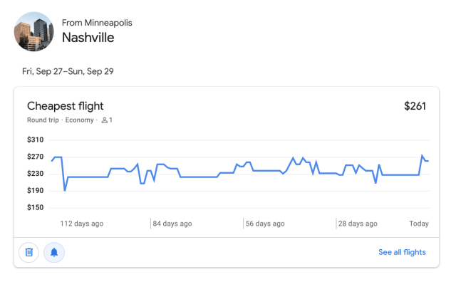 google flights price alerts