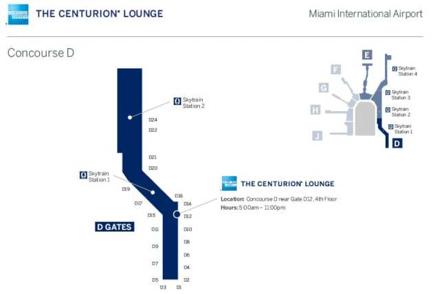 Centurion Lounge Miami location