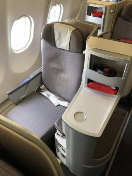 Europe Business Class Iberia seats