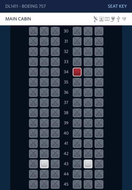 delta seat map