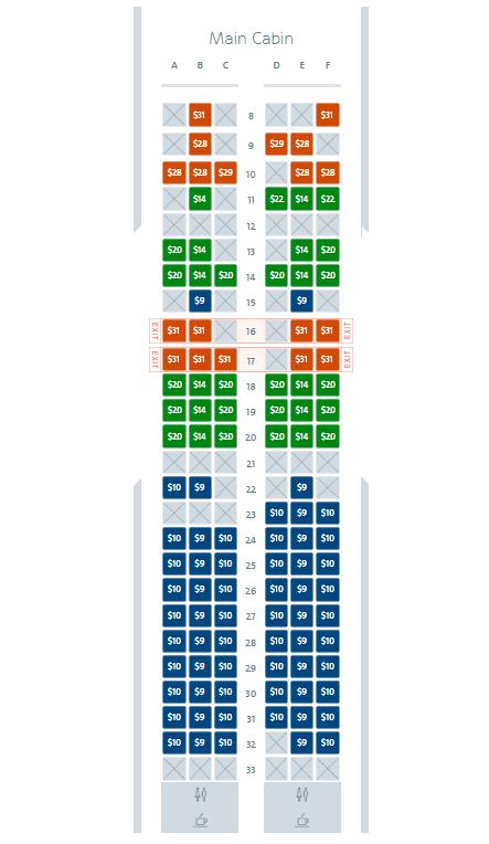 american basic economy seat selection