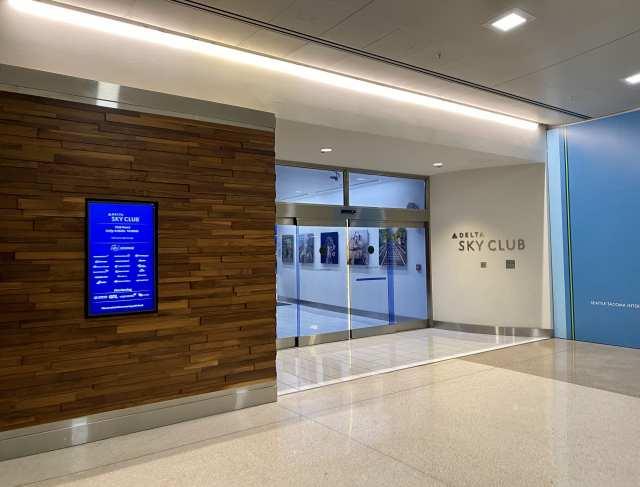 delta sky club seattle entrance