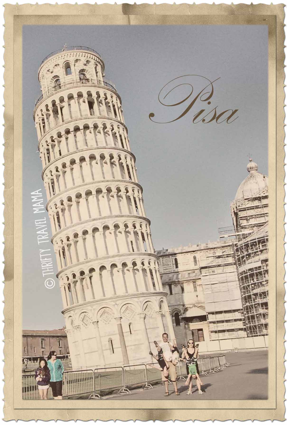 Leaning Tower Of Pisa Pictures To Colour In For Little Kids