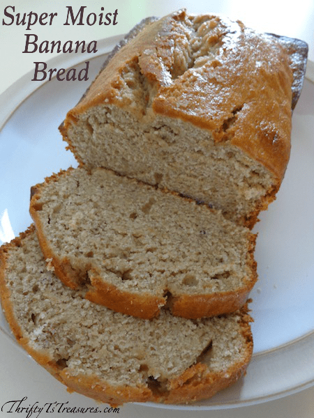 Step aside zucchini bread, there's another player in town! This Super Moist Banana Bread is one of my go-to easy recipes because I can have it cooking in the oven in under 15 minutes. Our favorite way to eat it is warm with a dollop of butter!