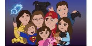 cartoon picture of family