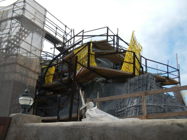 These next few photos are taken from the other side of the mountain showing exterior work