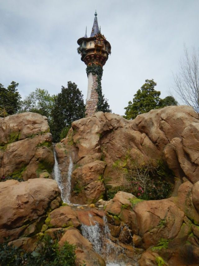 Rapunzel's tower is the backdrop for the area