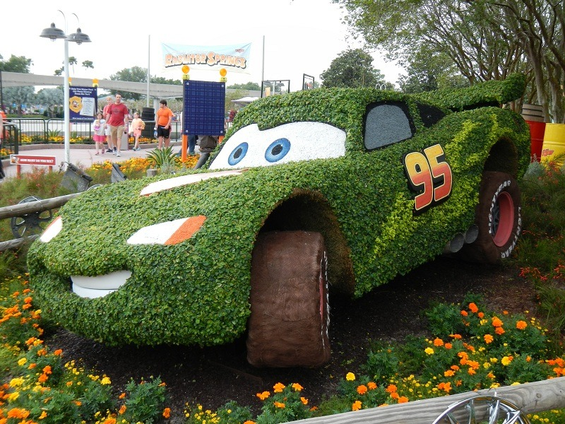 And of course, the Lightning McQueen topiary