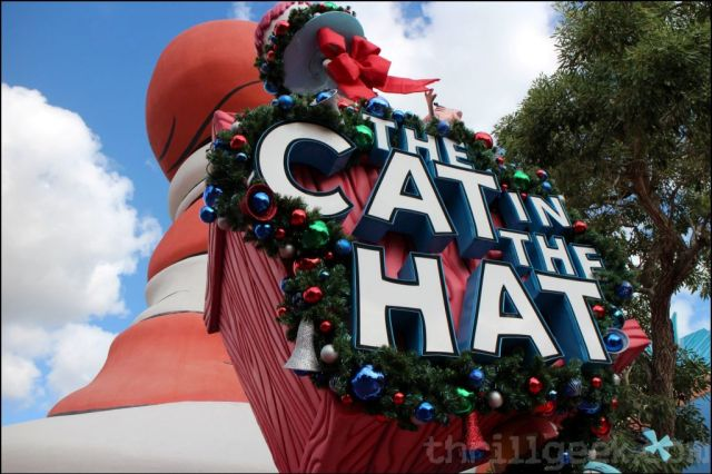 Cat in the Hat is all decorated for the holidays