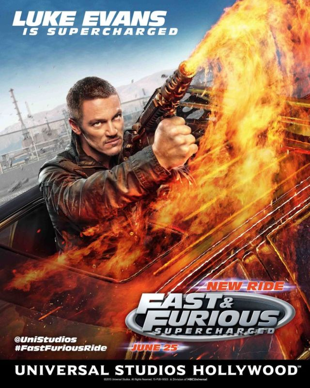Fast Furious-Supercharged Luke Evans poster