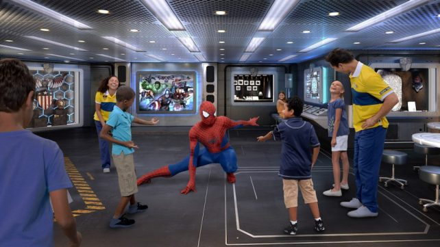Coming to the Disney Wonder this fall is Marvel Super Hero Academy. Marvel's greatest Super Heroes mentor young guests to develop the brave and adventurous heroes inside them. (Photo illustration, Disney)