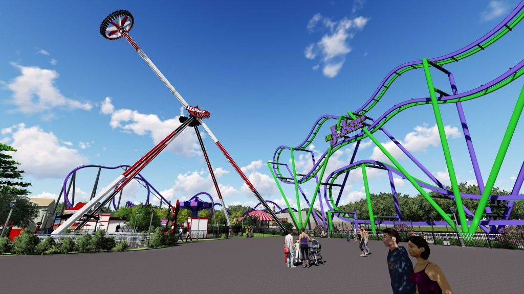 HARLEY QUINN Spinsanity - Six Flags New England