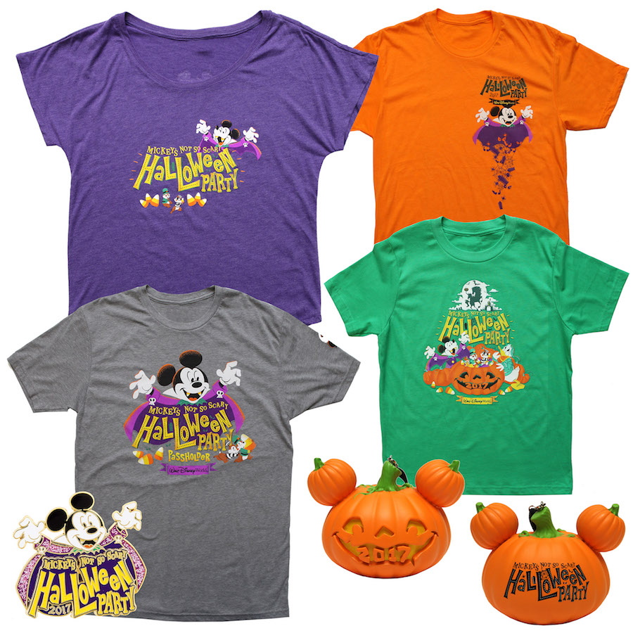 Logo merchandise for 2017 Mickey's Not-So-Scary Halloween Party at the Magic Kingdom