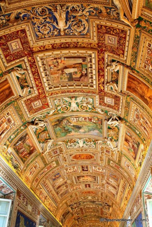 Ceiling of the Gallery of Maps, Vatican Museum