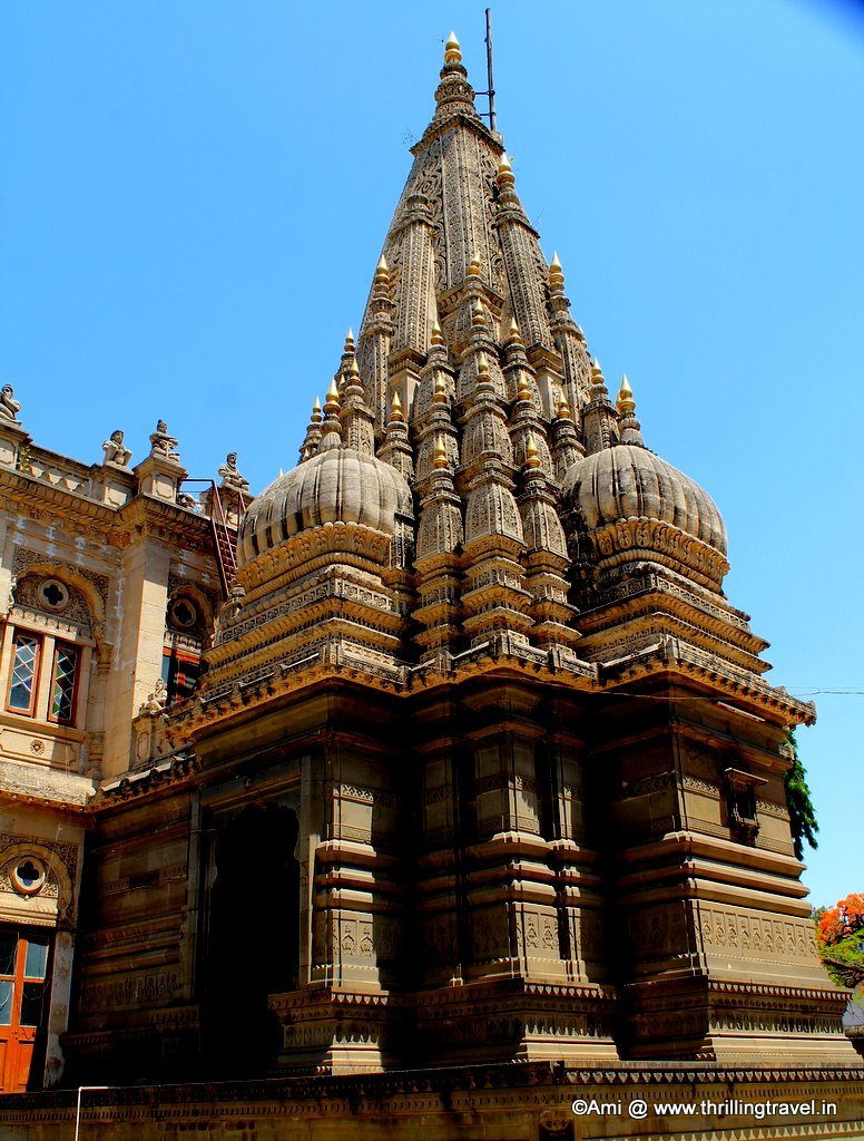 The temple at Shinde Chhatri, Pune