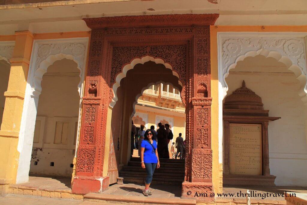 Doorway at Shringar Chowk of Meherangarh Fort