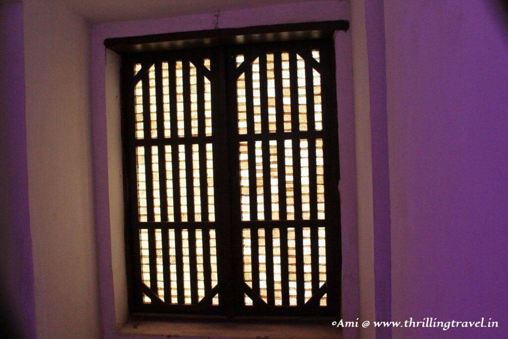 Shell windows of Santana Church