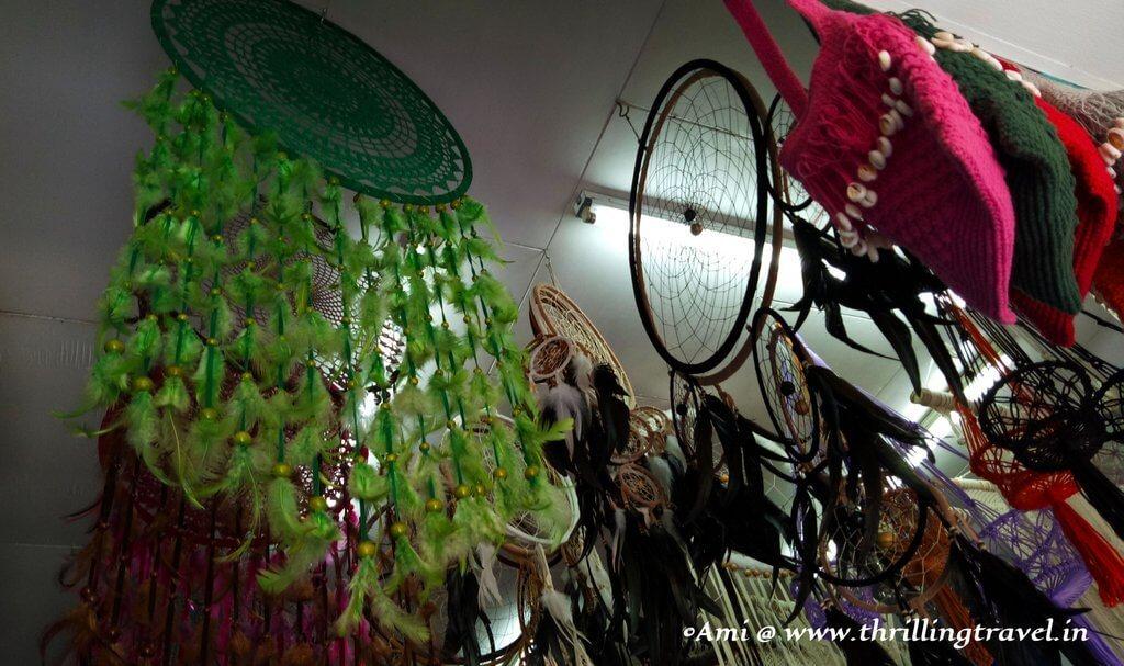 Dream catchers on display in Bali