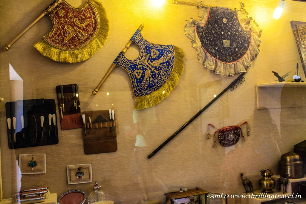 Pedicure and Manicure sets used by royalty at Junagarh Fort Bikaner