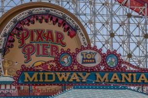 Toy Story Mania at Pier Pixar at Disney California Adventure park