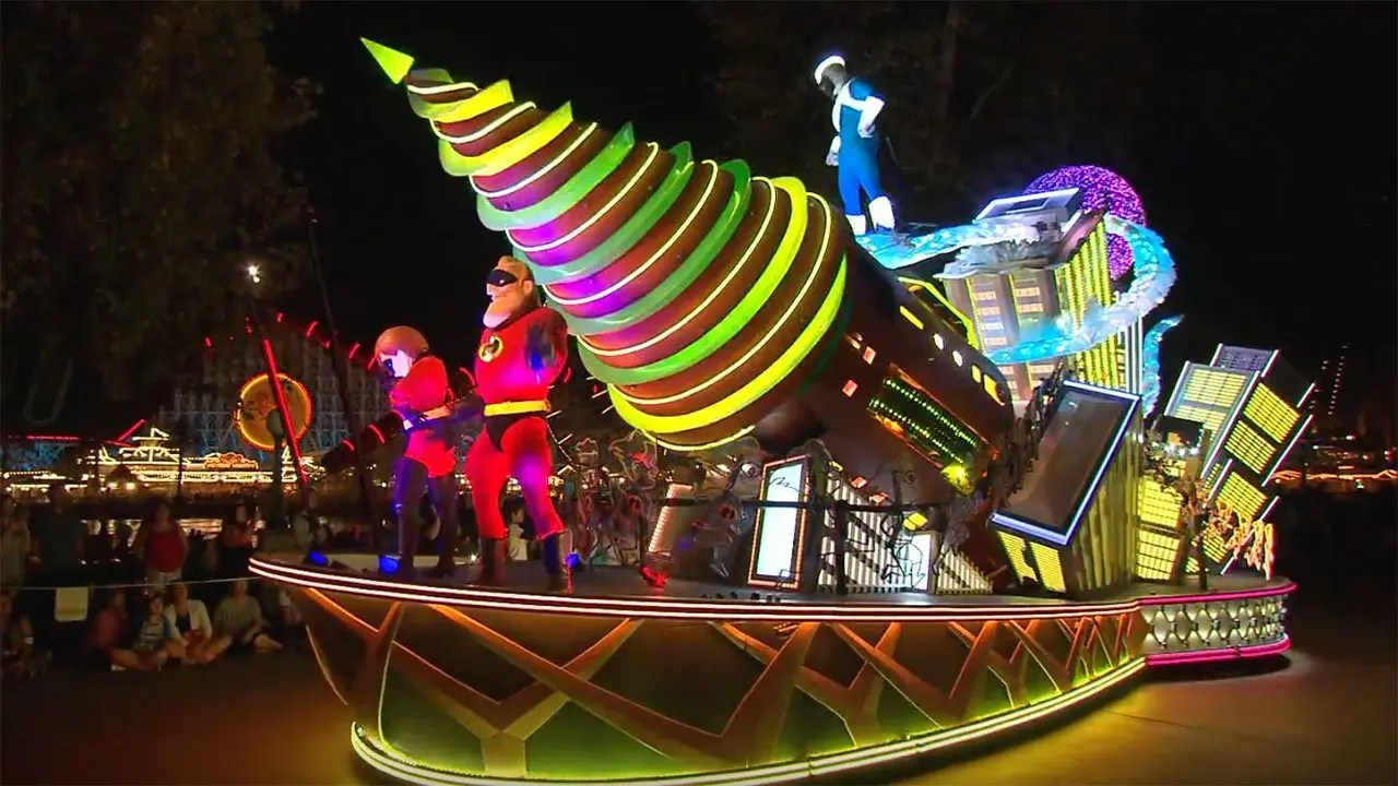 Behind-the-Scenes: 'The Incredibles' Float in 'Paint the Night' Parade at Disney California Adventure Park