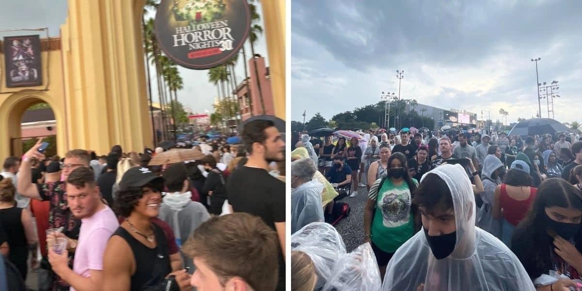 Massive Crowds Flock to Universal, Wait Times Sky-Rocket as Halloween Event Returns