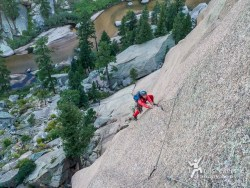 Looking down P3. 'Childhood's End', Big Rock Candy Mountain - South Platte, CO.