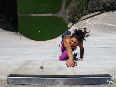 Topping out - Luzzone Dam, Switzerland