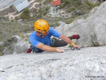 P6 (5.10d) of Space Boyz - El Potrero Chico
