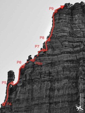 Titan Route Description - Upper Pitches