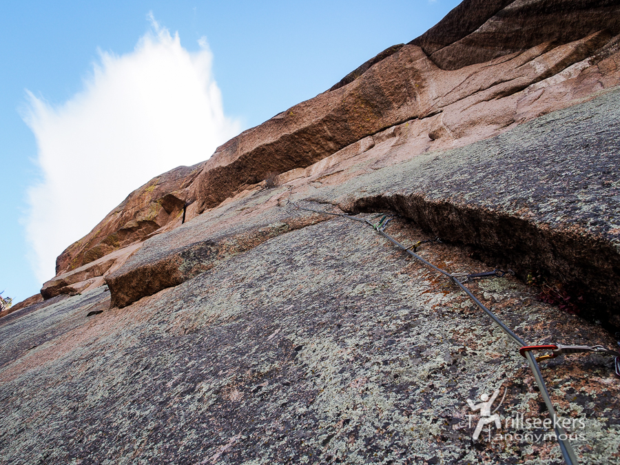 Looking up P4. 'Shock Treatment', Big Rock Candy Mountain - South Platte, CO.